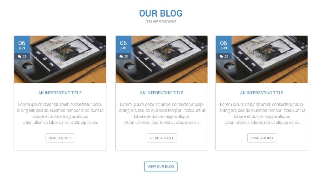 The final blog section
