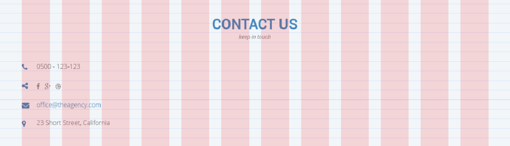 Contact us section first column