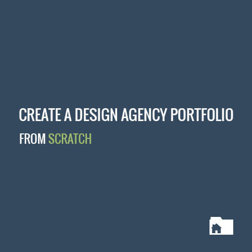 Create a design agency portfolio from scratch