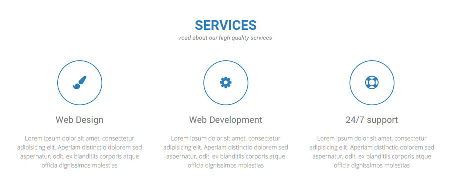 Completed Services Section