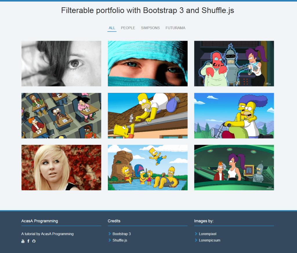 Our final portfolio