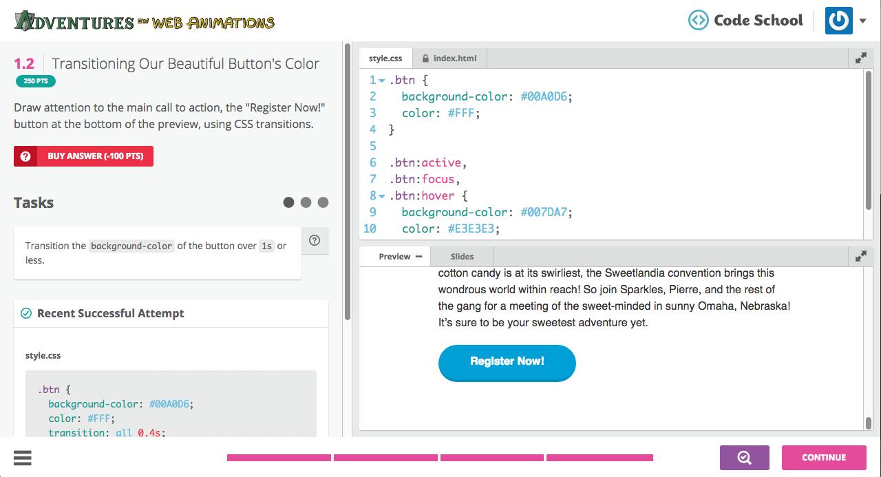 Code School Live Code Editor